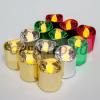 Набор декоративных свечей FL078.Набор из 12шт*1LED разноцветный свечей,1LED теплый белый,цилиндры