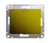 Механизм выключателя 2-кл. СП GLOSSA с подсветкой