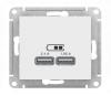 Механизм розетки USB СП ATLAS 5В 1порт *2,1А*1,05А