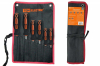 Набор отверток 6 шт.: SL:3х75;5х100;6х125, PH:0х75;1х75;2х100 (тканевый чехол)