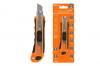 Нож технический (строительный) усиленный, ТНУ-02, 18 мм, 3 сегментированных лезвия, автосмена