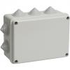 Распаячная коробка ОП 190х140х70мм, крышка, IP55, 10 гермовводов, инд. штрихкод