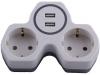 Сетевой разветвитель ADP16-14-20 на 2 выхода с заземлением 250V 16A USB выходами