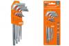 """Набор ключей """"HEX"""" 9 шт.: 1.5-10 мм, длинные, (держатель в блистере)"""