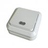 Переключатель на 2 направления 1-кл. открытой установки с подсветкой IP20 10А