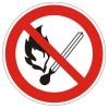 """Знак d=180мм """"Запрещается пользоваться открытым огнём и курить"""""""