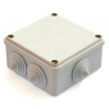 Распаячная коробка ОП 100х100х55мм, крышка, IP54, 8вх